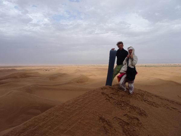 Sandboarding in Morocco