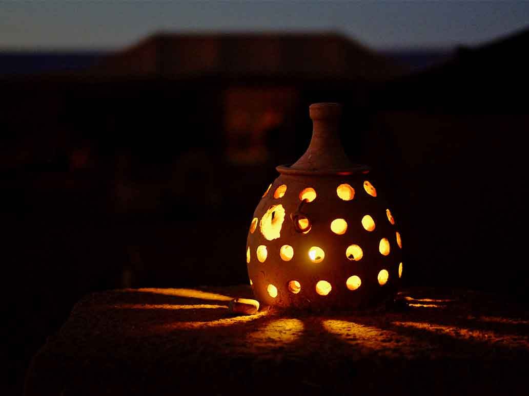 Moroccan Lantern at night | Sahara Feeling Desert Tours
